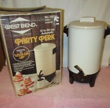 Vintage West Bend 12 - 30 Cup Party Perk Coffee Pot/Urn - Almond Color #58130
