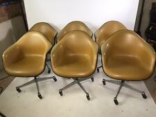 HERMAN MILLER EAMES ARM SHELL CHAIR VINTAGE FIBERGLASS (6 Available)