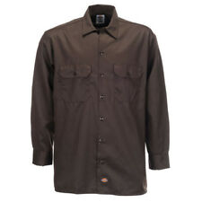 Dickies - Camicia a maniche lunghe Uomo Marrone (dark Brown) Small (f4t)