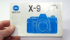 Minolta x9 instruction manual   good condition