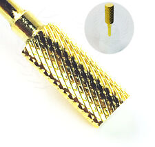 USA High Quality Gold Nail Carbide Bit For 3/32 Electric Drill Nail File Art