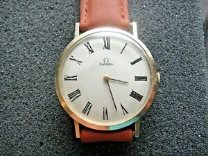 OMEGA 70's Solid 14K Yellow Gold, Manual Wind MEN'S WATCH