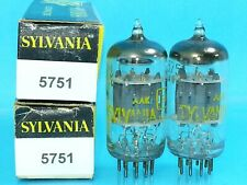 SYLVANIA 5751 12AX7  VACUUM TUBE MATCHED PAIR 1960's