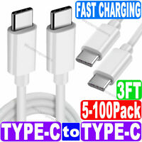 Lot Type C to Type C Quick Charge QC3.0 2.0 PD Charging Cable Data Sync Cable