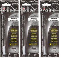 3 - FISHER SPACE Bullet Parker Style Ballpoint Pen Refills - Black Bold #SPR4B