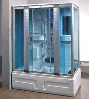Steam Shower enclosure & Acupuncture,Massage Whirlpool Tub.BLUETOOTH.US Warranty