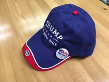 TRUMP NO BULL $HIT EMBROIDERED DOUBLE VISOR CAP USA RED/WHITE & BLUE W/FREE PIN