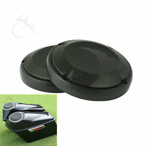 "6-1/2"" Saddlebag Lid Speaker Grill Cover Fit For Harley Touring Road Glide 83-20"