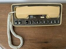 Rare Vintage Retro GTE Linear II Push Button Telephone -1980's-Works Great!