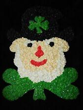 Vintage Melted Plastic Popcorn St Patrick's Day Shamrock St Patty's Leprechaun!!