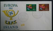Iceland Island 1961 Europa CEPT Reykjavik CDS FDC First Day Cover