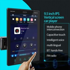 Car Radio Single DIN 9.5in Stereo BT USB AUX MP5 Player Support Multi Languages