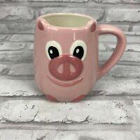Pink Pig 3D Coffee Mug Collectors Farm Animals Tag Brand Smiling Little Piggy