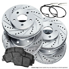 Full Kit Drilled Slotted Brake Rotors and Ceramic Pads 2003-2006 Mini Cooper