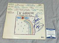 GEORGE BENSON & AL JARREAU SIGNED IN HARMONY LP ALBUM COVER Autographed BAS COA