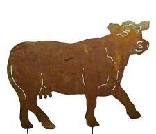 Gartenfigur Metall - Kuh  - Edelrost - zum stecken - Gartendeko