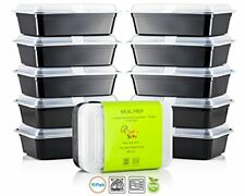 Chef's Star 1 Compartment Reusable Food Storage Containers with Lids - 10 Pack