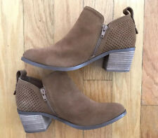 Steve Madden Suede Perforated Ankle Boots Size 8.5 RUEBEY
