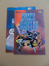 Crackbusters 1 , 2 . Lot Complet . Showcase 1986 / 87 . FN / VF