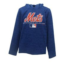 New York Mets Official MLB Authentic Kids Youth Size Athletic Hooded Sweatshirt