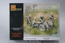 YH079 PEGASUS HOBBIES 1/72 maquette figurine 7510 German 75 mm 1e IG18 Infantry