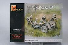 YH079 PEGASUS HOBBIES 1/72 maquette figurine 7510 German 75 mm 1e IG18 Infantry