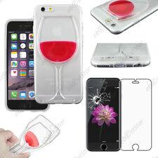 """Coque transparente Vin Transparent / Rouge Apple iPhone 6 Plus 5,5"""" Verre"""