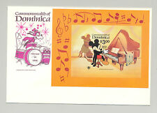 Dominica #653 Disney, IYC, UN 1v imperf proof of s/s mounted on proof of FDC