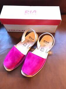 Ria Menorca Slingback Pink Suede Sandals Hand Made In Spain NIB $89 Size 9; 40EU