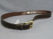 New Men's Dickies Espresso Brown Leather Belt with Gold Tone Buckle Size 40