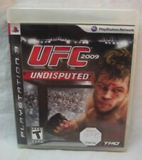 UFC UNDISPUTED 2009 SONY PlayStation 3 VIDEO GAME COMPLETE