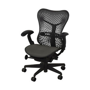 Herman Miller Mirra 1 Task Chair Black mesh desk chair office semi loaded