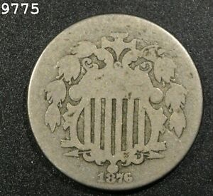 1876 Shield Nickel *Free S/H After 1st Item*