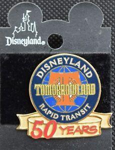 Disneyland TOMORROWLAND RAPID TRANSIT 50 YEARS Pin - Retired Disney Pins