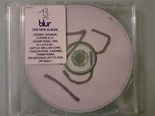 BLUR -  13 promo CD album PROMO13