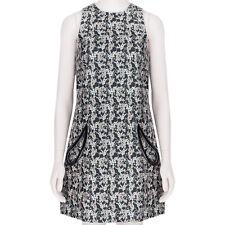 Christopher Kane Nude Grey Plasma Jacquard Petal Pocket Shift Dress UK10 IT42