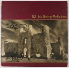 U2 Bono Edge The Unforgettable Fire Signed Autograph Record Vinyl Album JSA