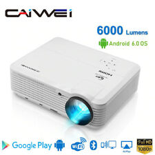 CAIWEI HD Android WIFI Heimkino Beamer 1080P Blue-tooth VideoProjektor HDMI ZOOM