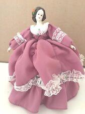 Bradley Doll Victorian Porcelain Music Box Lavender Dress, Free Shipping