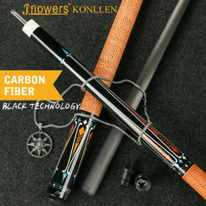 J-flowers KONLLEN Carbon Fiber Pool Cue Stick Technology 12.5mm Billiard Cues