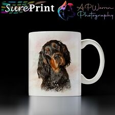 More details for gordon setter watercolour mug / selection of coloured mugs to choose from