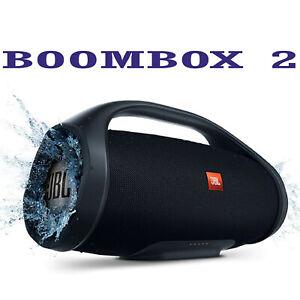 Boombox 2 Wireless Bluetooth Portable Speaker IPX7 Subwoofer Boom Box Waterproof