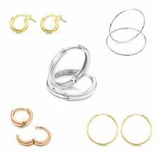 Amberta Pendientes para Mujer Aros en Plata De Ley 925 Auténtica Estilo Clásico