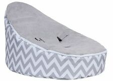 Brand New Baby Bean Bag Grey White Chevron Stripes Grey Top Factory Second #1