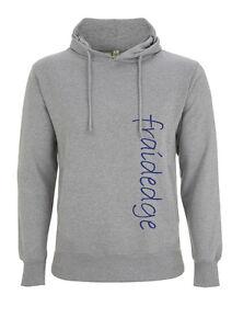 Mens Organic Cotton Hoodie with fraidedge logo
