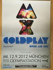 COLDPLAY 2012 MÜNCHEN - orig.Concert Poster - Konzert Plakat  A1 NEU