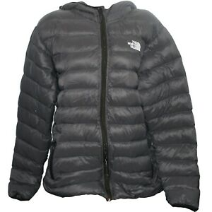Mens Womens Authentic The North Face Puffer Jacket Unisex Coat Warm Grey Large