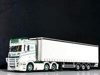 DFDS Copenhagen Reefer Trailer 3 axle Premium Line WSI Models 04-2075 1:50