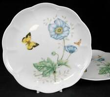 Lenox BUTTERFLY MEADOW 2 Accent Luncheon Plates Monarch LIGHT USE