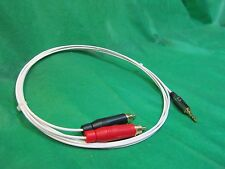 "4 Ft Silver Plated AudioQuest DragonFly Audiophile 3.5mm 1/8"" to Dual RCA cable."